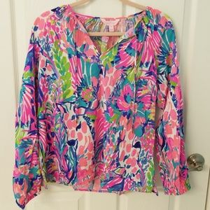 BNWT Lilly Pulitzer Willa Tunic Top